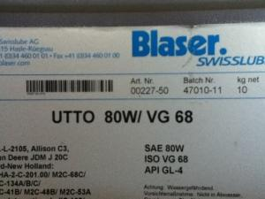 Huile Blaser utto 80W-VG 68
