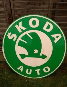Enseigne Skoda Vintage