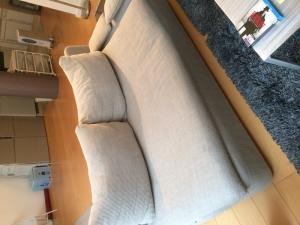 canapé d'angle Habitat gris clair