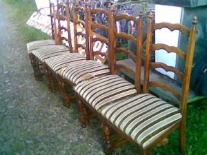 Lot de six chaises