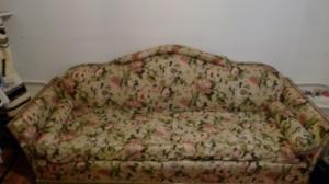 Canape lit en tissu style anglais
