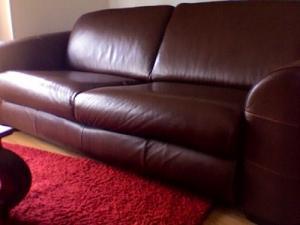 Canapè cuir 3 pl.