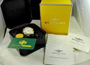 BREITLING CHRONOMAT RARE 18 K SOLID YELLOW GOLD
