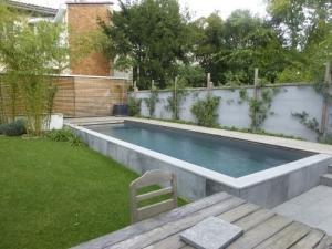 piscines béton, bois polyester