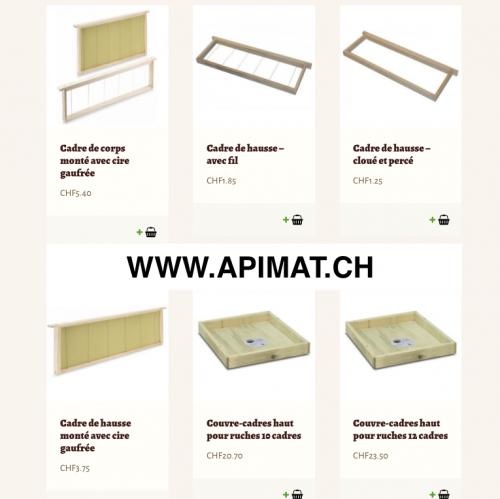 Accessoires de la ruche pour les abeilles - Boutique Apimat