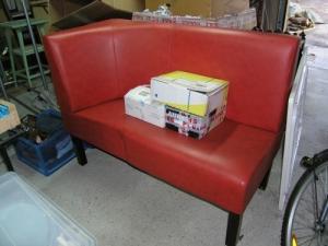 Canapé les années 60-70 rouge d