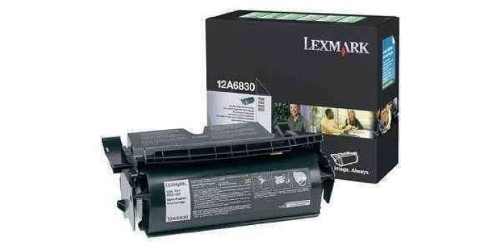 Toner Lexmark 12A6830 Original T520 T522, noir, 7500 pages