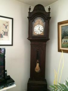 """Horloge ancienne type """"Morbier"""""""