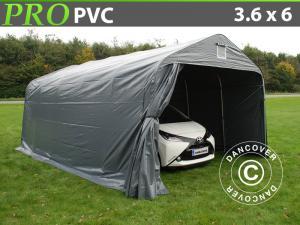 Zeltgarage PRO 3,6x6x2,68m PVC, Grau