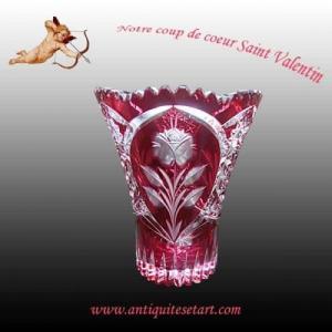 Val Saint Lambert-Vase en cristal