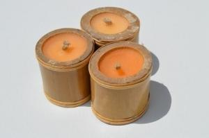 Bougies en bois de bambou