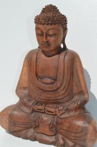 Bouddha en bois 22cm