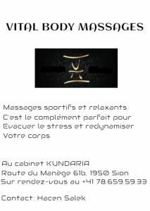 Massages sportifs où relaxants 70 CHF