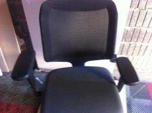 2 x Chaise de bureau en tissus,marque ha