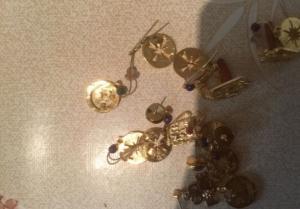 Bijoux dorés de fantaisies