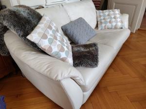 Canapé convertible en cuir