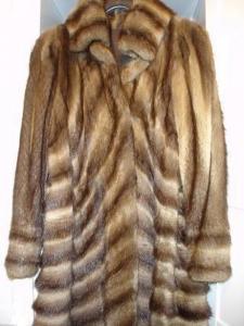 Manteau en vrai fourrure