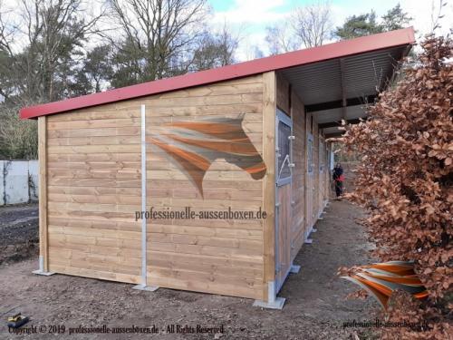 Aussenboxen ,Pferdeställe, Pferdeboxen, Weidehütte