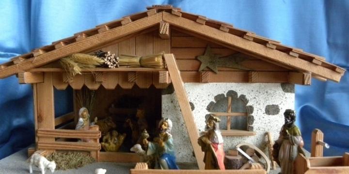 Crèche de Noël d'un artisan