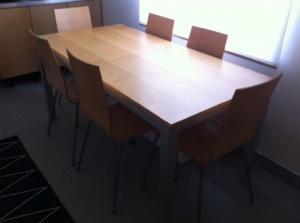 Table + Chaises érable bois véritable