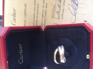 Bague Cartier Trinity 3 ors et brillants