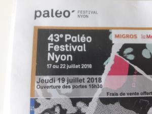 2 billets Paleo Festival Nyon 19 Juillet