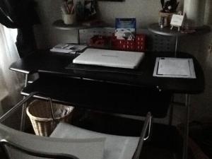 Bureau noir et gris