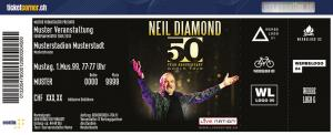 2 Billets Neil Diamond ZÜRICH 13.09.17, Hallenstadion