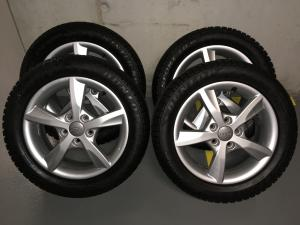 4 roues hiver AUDI A3 16'' - 6jx16 et48 + DUNLOP 205/55r16