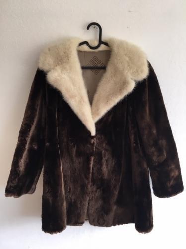 Manteau en vraie fourrure