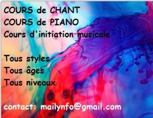 cours de Chant, cours de Piano