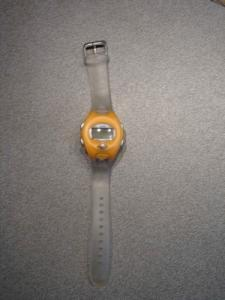 Neuve: Montre Sport Orange/ transparent