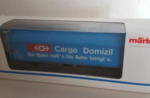 Märklin HO 4735 Hbis wagon marchandise Cargo Domizil CFF