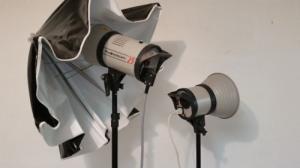 Kit Photo Studio avec lampe, parapluies