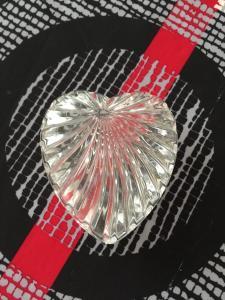 Boite forme coeur en cristal
