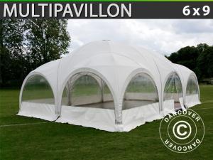 Kuppelzelt Multipavillon 6x9m, Weiß
