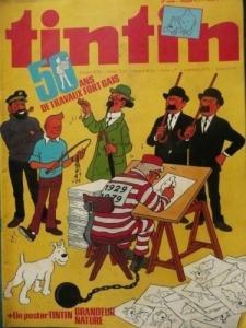 Lot de 100 BD Tintin hebdomadaires