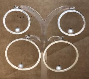 Boucles d'Oreilles neuves en Argent 925