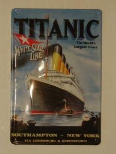 Titanic original : Plaque décorative