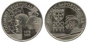 200 Escudos - Colombo de Portugal