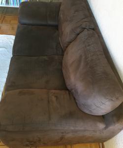 Canapé 2 places brun