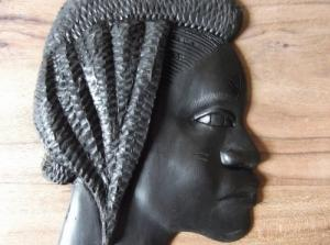 Sculpture tête africaine en ébène