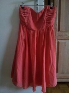 Robe couleurs corail taille S