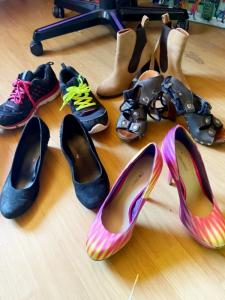 je vends mes chaussures usée