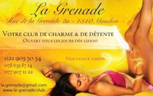 La Grenade Club à Moudon recrute hôtesses