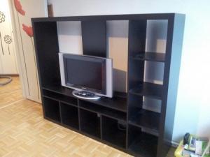 Meuble TV, brun noir
