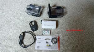 Lot de deux caméras d'action Sony.