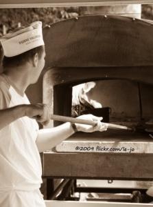 pizzeria mobile au feu de bois