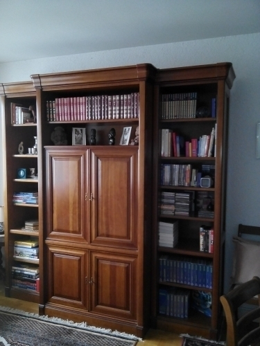 scrapeo meuble biblioth que orsay merisier. Black Bedroom Furniture Sets. Home Design Ideas