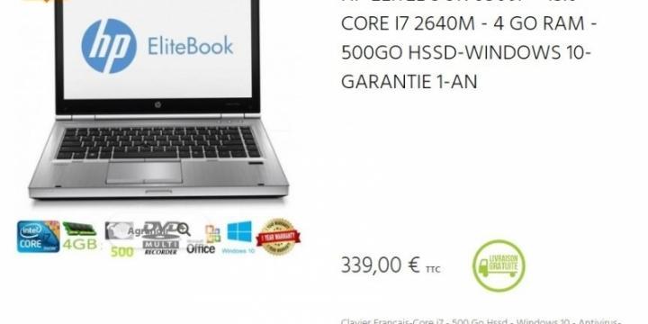 "PC Portable HP ELITEBOOK 8560P - 15.6"""